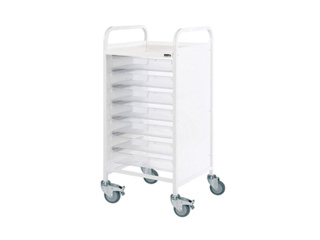 Vista 55 Hospital Trolley - 7 Single Clear Trays