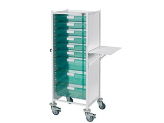 VISTA 120 Trolley - 6 Single/3 Double Green Trays