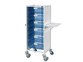 VISTA 120 Trolley - 6 Double Blue Trays