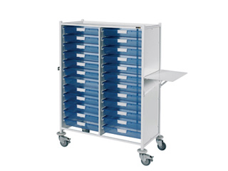 VISTA 240 Trolley - 24 Single Blue Trays