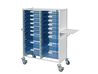 VISTA 240 Trolley - 12 Single/6 Double Blue Trays