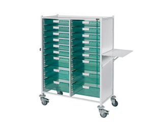 VISTA 240 Trolley - 12 Single/6 Double Green Trays