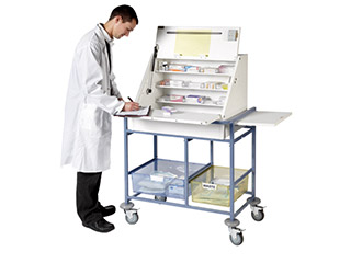 Ward Drug & Medicine Dispensing Trolley - Large
