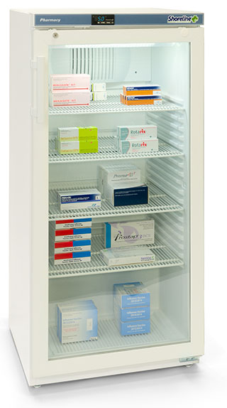 Shoreline SM264G - 236 Litres Pharmacy Fridge with Glass Door