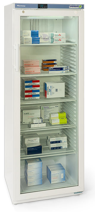 Shoreline SM364G - 335 Litres Pharmacy Fridge with Glass Door