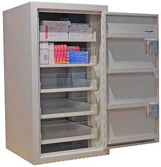 194 Litres Controlled Drugs Cabinet  with Five Drawers