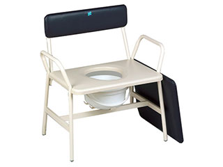 Bariatric Commode with Fixed Arms & Legs