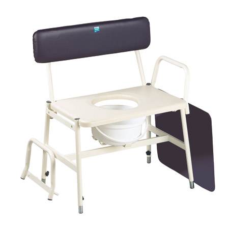Bariatric Commode with Adjustable Arms & Legs