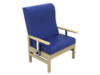 High-Back Bariatric Arm Chair with Drop Arms