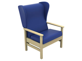 High-Back Bariatric Arm Chair with Wings