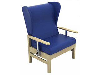 High-Back Bariatric Arm Chair with Wings & Drop Arms