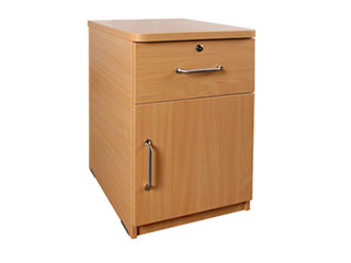 Bedside Cabinet with Lock & Cupboard Door