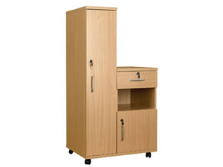 Bedside Cabinet Combination with Locks - Right Hand Side (Laminate Faced MDF)