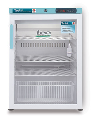 LEC Control PGRC151UK Pharmacy Fridge 151L with Glass Door