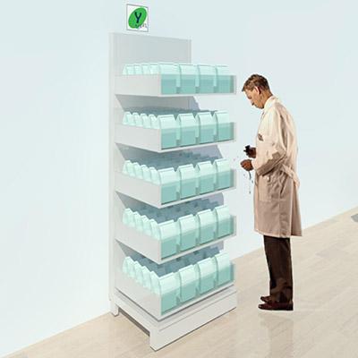 FY-021T Full Height Pharmacy Shelving