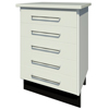 Bench 5-drawer Slide-in Module with Handles