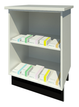 Bench Unit with One Shelf