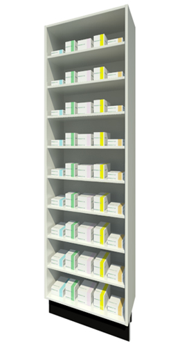 Full Height Unit 315mm Depth with Eight Shelves