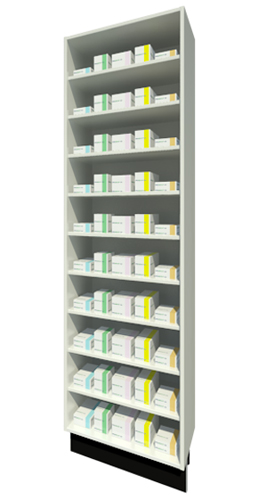 Full Height Unit 315mm Depth with Nine Shelves