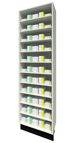 Full Height Unit 315mm Depth with Ten Shelves