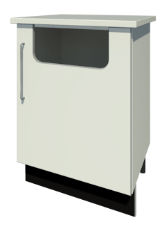 Bench Waste Bin & Door with Handle (Left Handed)