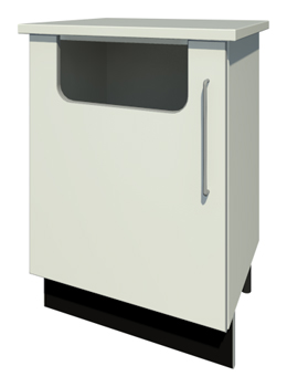 Bench Waste Bin & Door with Handle (Right Handed)