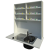 Overbench Wet Area Unit (Double)  + 3 shelves above each section
