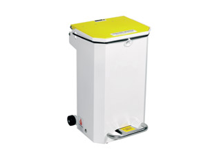50 Litre Clinical Bin with Yellow Lid - Waste for incineration