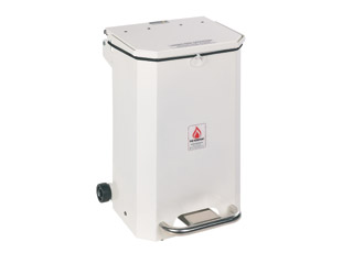 50 Litre Clinical Bin with White Lid - General use