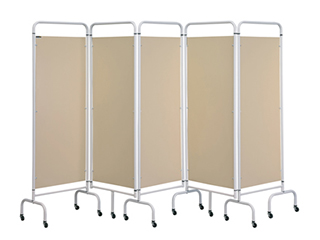 Five Panel Screen - Beige