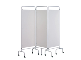 Three Panel Screen - White