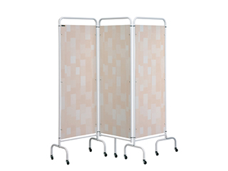 Three Panel Screen - Beige Patchwork