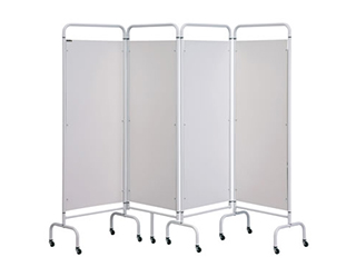 Four Panel Screen - White