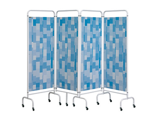 Four Panel Screen - Blue Patchwork