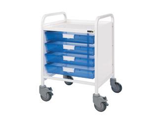 Vista 20 Trolley - 4 Single Blue Trays