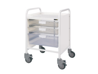 Vista 20 Trolley - 2 Single/1 Double Clear Trays