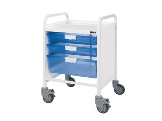 Vista 20 Trolley - 2 Single/1 Double Blue Trays