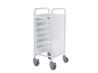 Vista 30 Trolley - 2 Single/2 Double Clear Trays