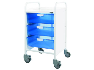 Vista 30 Trolley - 3 Double Blue Trays