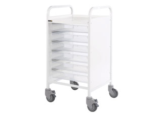 Vista 50 Medical Trolley - 6 Single Clear Trays