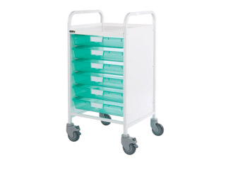 Vista 50 Medical Trolley - 6 Single Green Trays