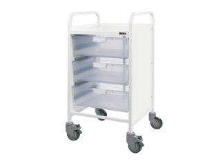 Vista 50 Medical Trolley - 3 Double Clear Trays