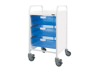Vista 50 Medical Trolley - 3 Double Blue Trays