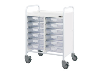 Vista 60 Medical Trolley - 12 Single Clear Trays