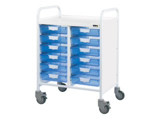 Vista 60 Medical Trolley - 12 Single Blue Trays