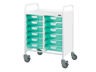 Vista 60 Medical Trolley - 12 Single Green Trays