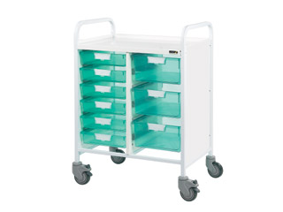 Vista 60 Medical Trolley - 6 Single/3 Double Green Trays
