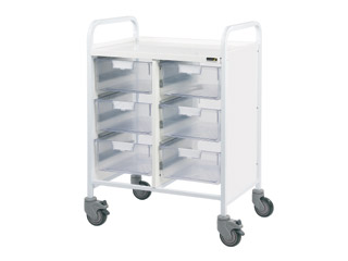 Vista 60 Trolley - 6 Double Clear Trays