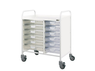 Vista 80 Medical Trolley - 12 Single Clear Trays