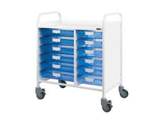 Vista 80 Medical Trolley - 12 Single Blue Trays